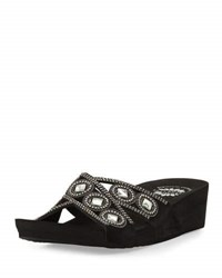 Premium Collection By Yellow Box Knute Crisscross Embellished Sandal Black