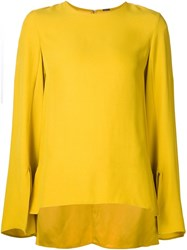 Adam By Adam Lippes Adam Lippes Flared Sleeve Blouse Yellow And Orange