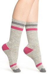 Smartwool Women's Birkie Crew Socks Medium Gray Heather
