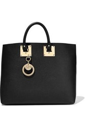 Sophie Hulme Woman Cromwell Textured Leather Tote Black