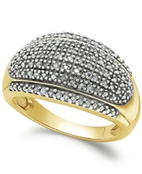 Victoria Townsend Rose Cut Diamond Dome Ring In 18K Gold Over Sterling Silver 1 4 Ct. T.W.