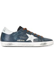 Golden Goose Deluxe Brand 'Super Star' Sneakers Blue