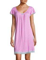 Ellen Tracy All Over Patterned Chemise Pink