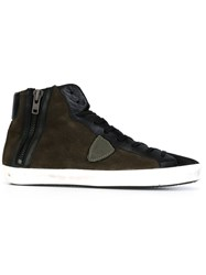 Philippe Model 'Bike' Hi Tops Green