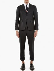 Thom Browne Charcoal Wool Single Breasted Suit