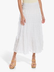 Max Studio Tiered Maxi Skirt White