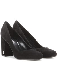 Saint Laurent Babies 90 Suede Pumps Black
