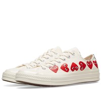 Comme Des Garcons Play X Converse Chuck Taylor Multi Heart 1970S Ox White