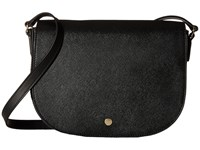 Ecco Iola Medium Saddle Bag Black Handbags