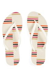 Reef Women's Escape Flip Flop Cream Stripes