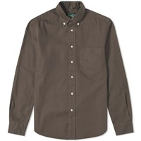 Gitman Brothers Vintage Button Down Overdyed Oxford Shirt Brown