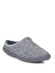 Toms Washed Canvas Slippers Grey