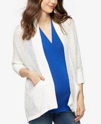 A Pea In The Pod Open Front Cardigan White