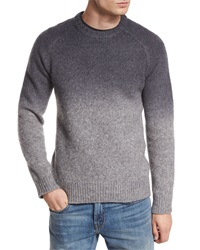 J Brand Hayes Dip Dyed Merino Wool Sweater Charcoal