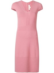 Michael Michael Kors Short V Neck Dress Pink