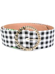 Blumarine Checked Belt Black