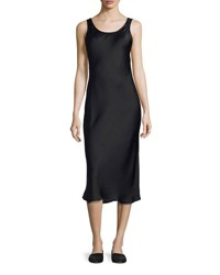 Vince Scoop Neck Slim Midi Tank Dress Black