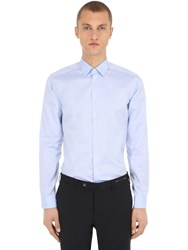 Eton Slim Fit Cotton Twill Shirt Light Blue