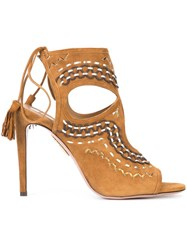 Aquazzura 'Sexy Thing' Sandals Brown
