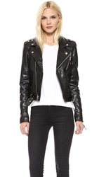 Blk Dnm Leather Jacket 1 Black