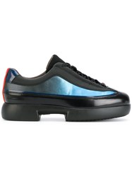 Camper Paneled Sneakers Leather Nylon Rubber Black