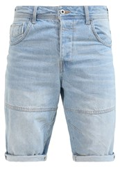Solid Greg Denim Shorts Light Blue