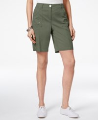 Karen Scott Curved Pocket Shorts Only At Macy's Olive Vine
