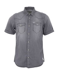Garcia Cotton Short Sleeved Plain Shirt Grey