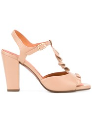 Chie Mihara Ruffle Front Sandals Nude Neutrals