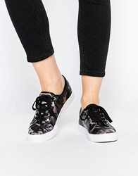 Asos Dante Lace Up Camo Trainers Camoiridescent