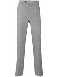 Brunello Cucinelli Tailored Trousers Men Silk Cotton Linen Flax Virgin Wool 48 Grey