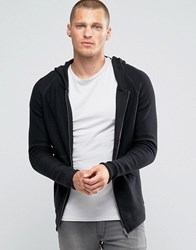 Jack And Jones Hooded Zip Through Cardigan Black
