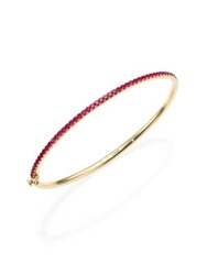 Kwiat Pink Sapphire And 18K Yellow Gold Stacking Bangle Bracelet