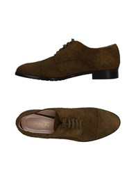 Cavallini Lace Up Shoes Military Green