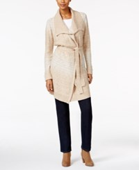 Styleandco. Style Co. Petite Belted Space Dyed Wrap Cardigan Only At Macy's Neutral Combo