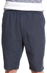 Slate And Stone Men's Drawstring Linen Shorts Navy