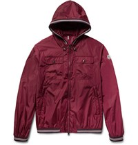 Moncler Jeanclaude Shell Hooded Jacket Burgundy