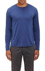Isaia Jersey Long Sleeve T Shirt Blue
