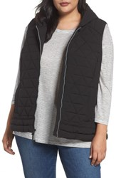 Andrew Marc New York Plus Size Women's Sage Quilted Vest Black