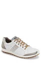 Men's Ecco 'Biom Hybrid 2' Golf Shoe White Mineral Leather