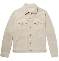 Tom Ford Cotton Blend Corduroy Trucker Jacket Neutrals