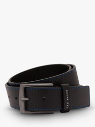 Ted Baker Acoin Colour Stitch Leather Belt Black