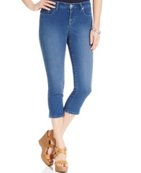 Style And Co. Styel And Co. Petite Embellished Pocket Capri Jeans