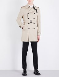 Sandro Double Breasted Cotton Trench Coat Beige
