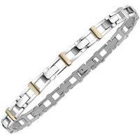 Zoppini Men's Stainless Steel And 18K Gold Link Bracelet