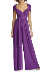 Dessy Collection Women's Convertible Wide Leg Jersey Jumpsuit