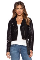 Obey City Moto Vegan Leather Jacket Black