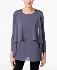 Alfani Layered Top Only At Macy's Stadium Grey