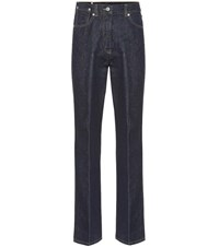 Dries Van Noten High Rise Straight Jeans Blue