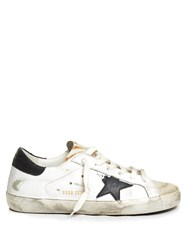 Golden Goose Super Star Low Top Animal Print Trainers